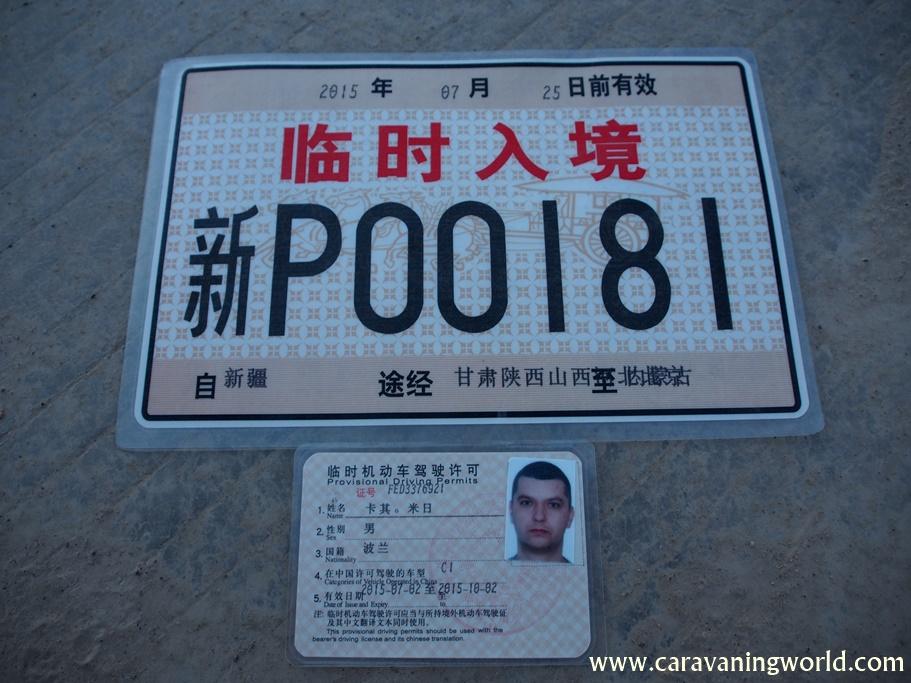 Prawko i zastępcza tablica rejestracyjna dla kamperka już jest