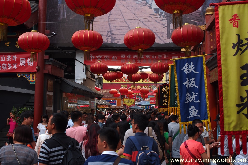 Zatłoczone uliczki Pekinu