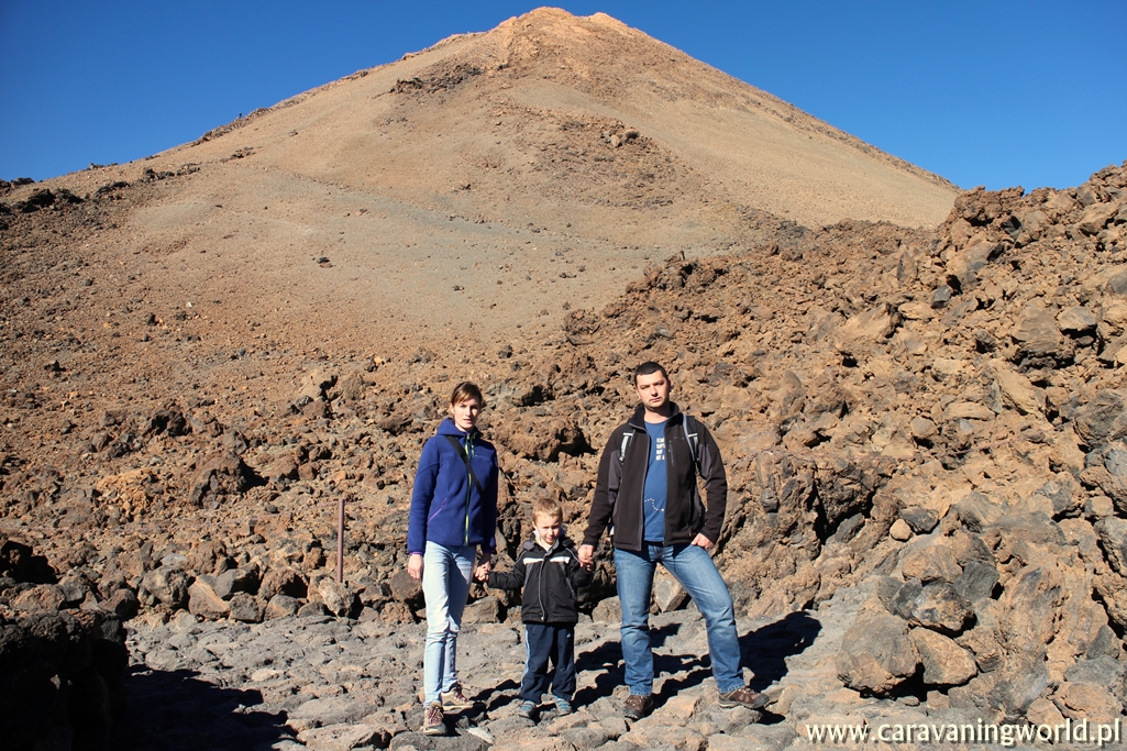 Już pod samym stożkiem wulkanu del Teide