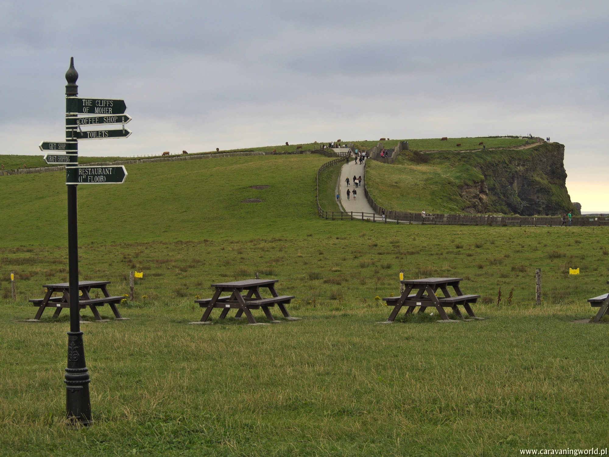 Ścieżka wzdłuż Klifów Moheru