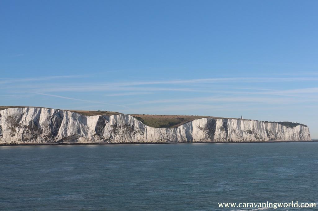 Białe klify w porcie Dover, Anglia