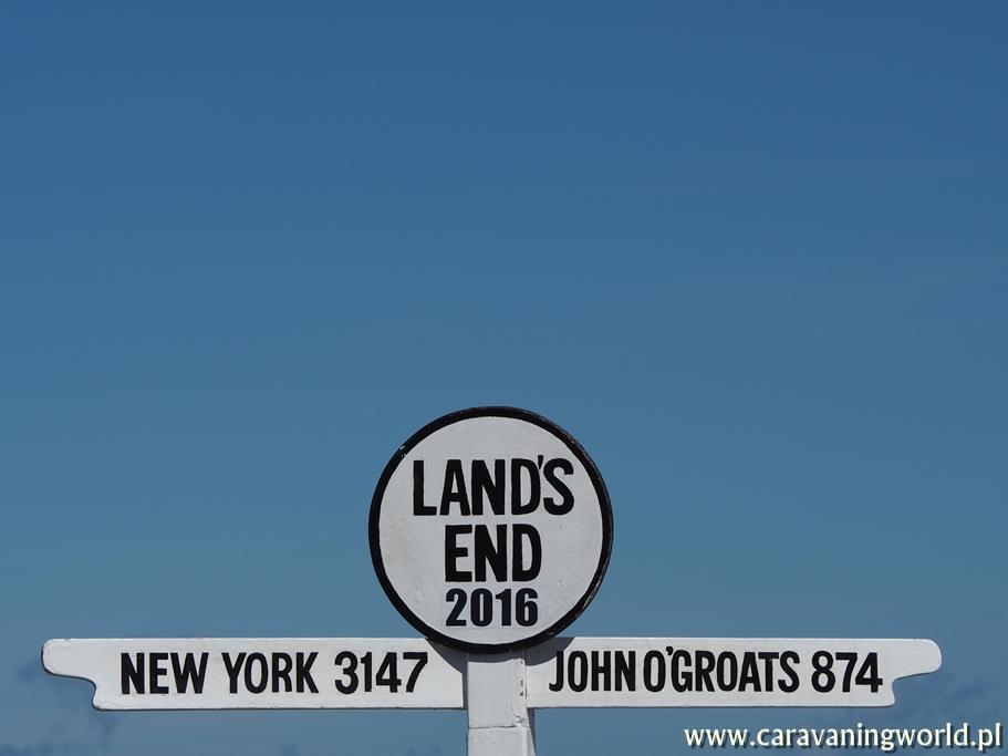 Drogowskaz przy Land's End