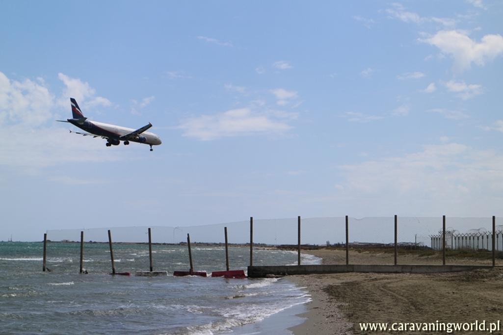 Na plaży w Larnace