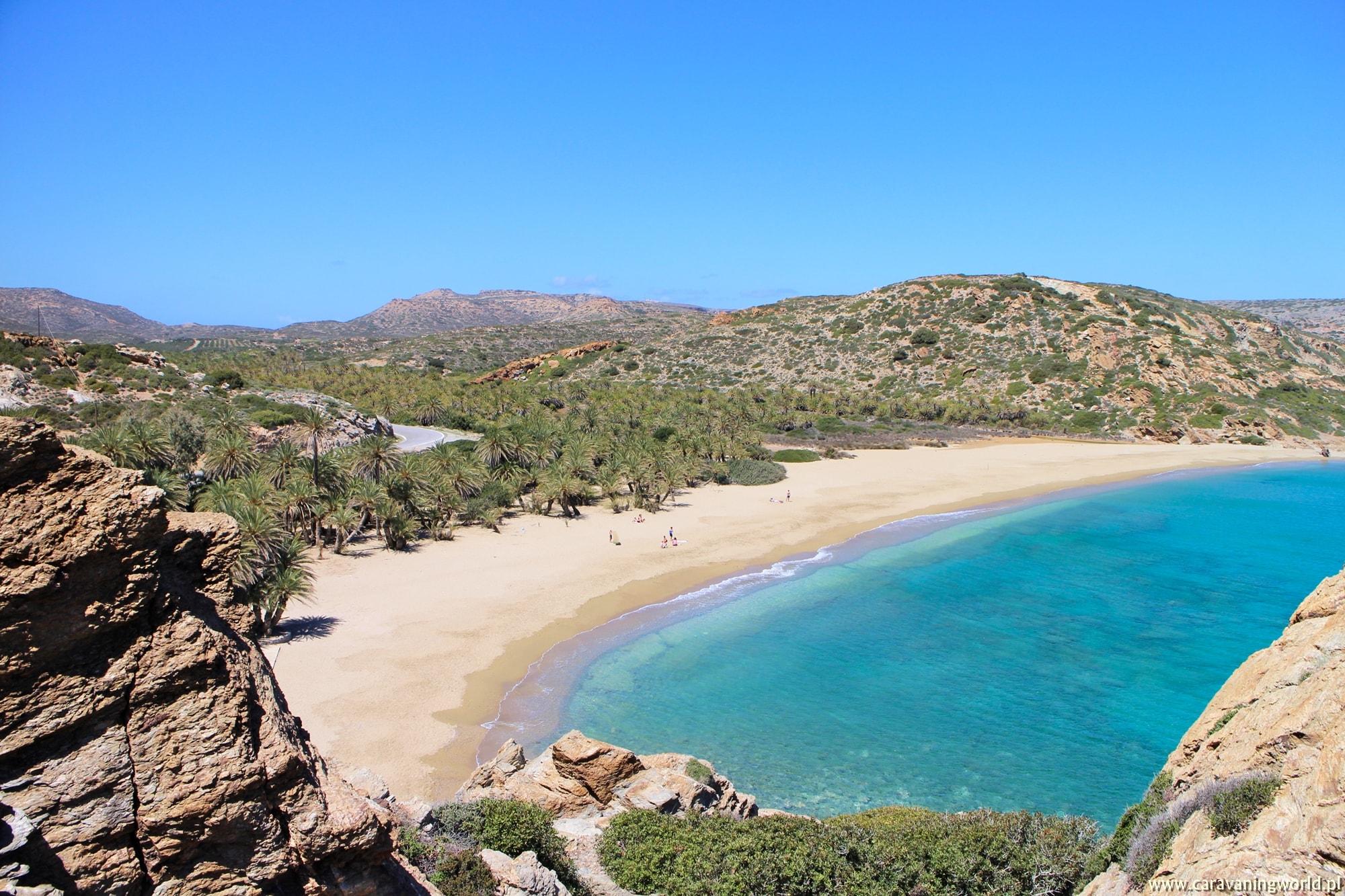 Wąwóz Milonas, plaża Vai