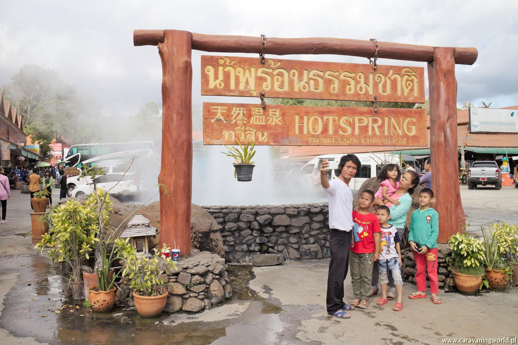 Przydrożne gejzery w Chiang Rai