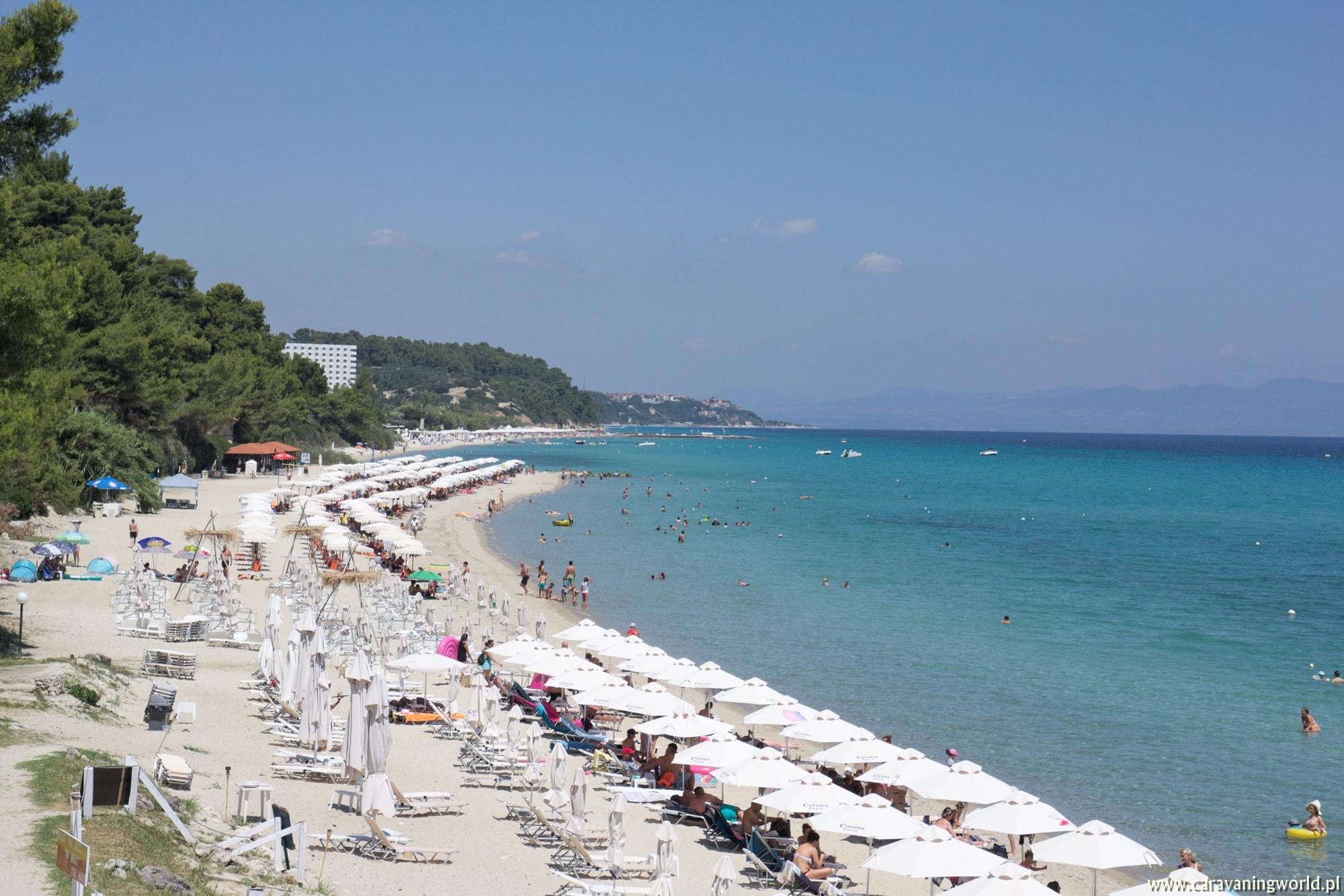 Plaże na półwyspie Kassandra