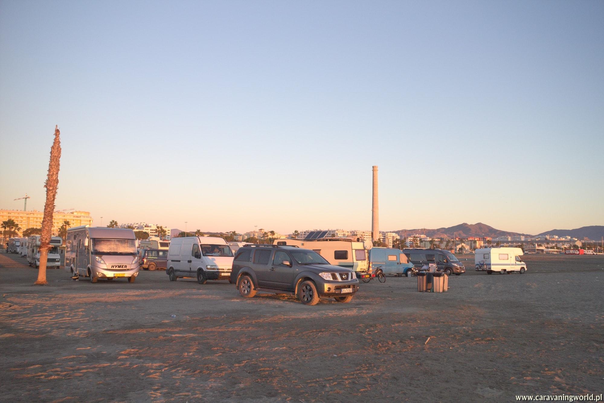 Stellplatz dla kamperów w Maladze