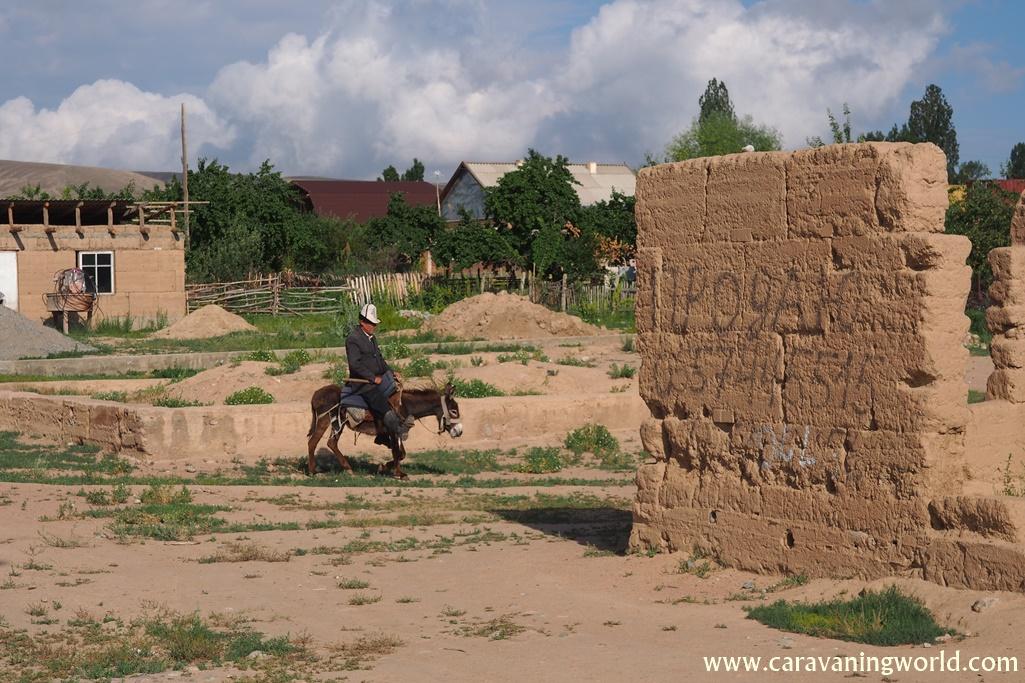 Wioska w Kirgistanie