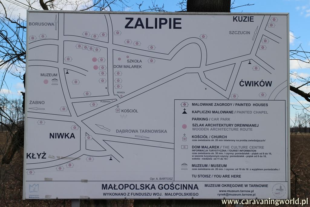 Mapa malowanych chat w Zalipiu