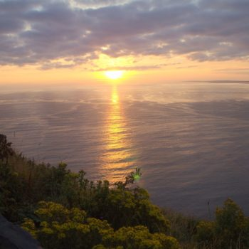 Zachód słońca nad Moherowymi Klifami