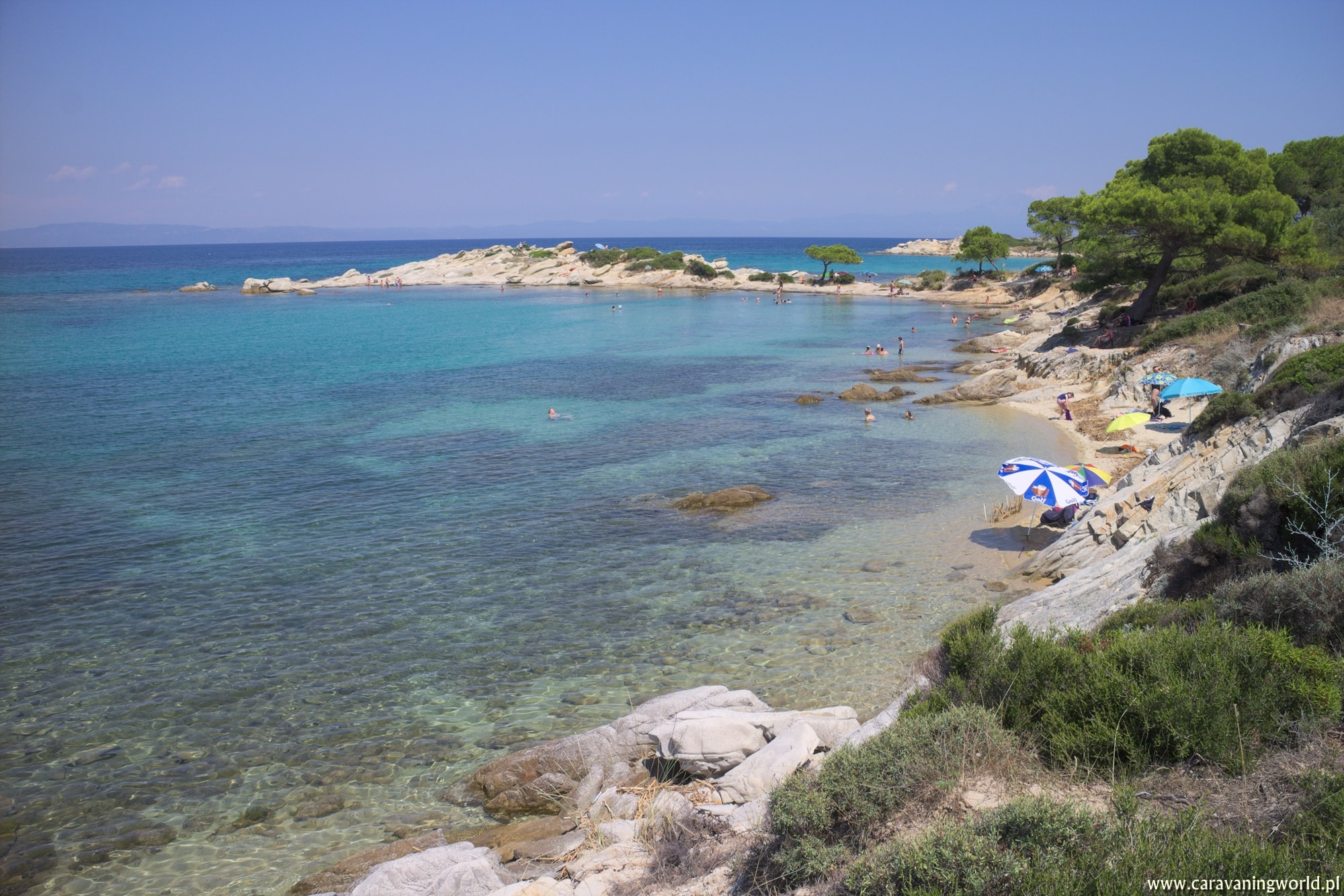 Plaże półwyspu Sithonia