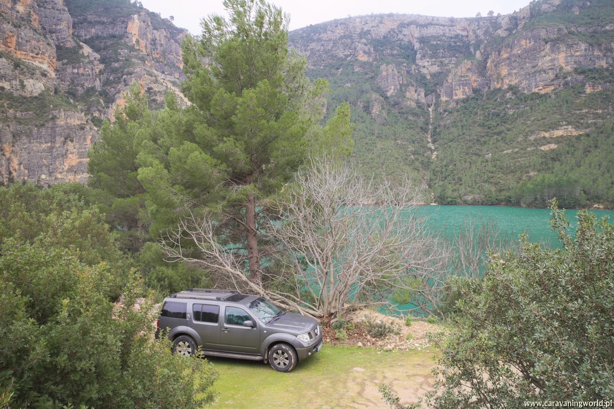 Nasza miejscówka przy rzece w górach
