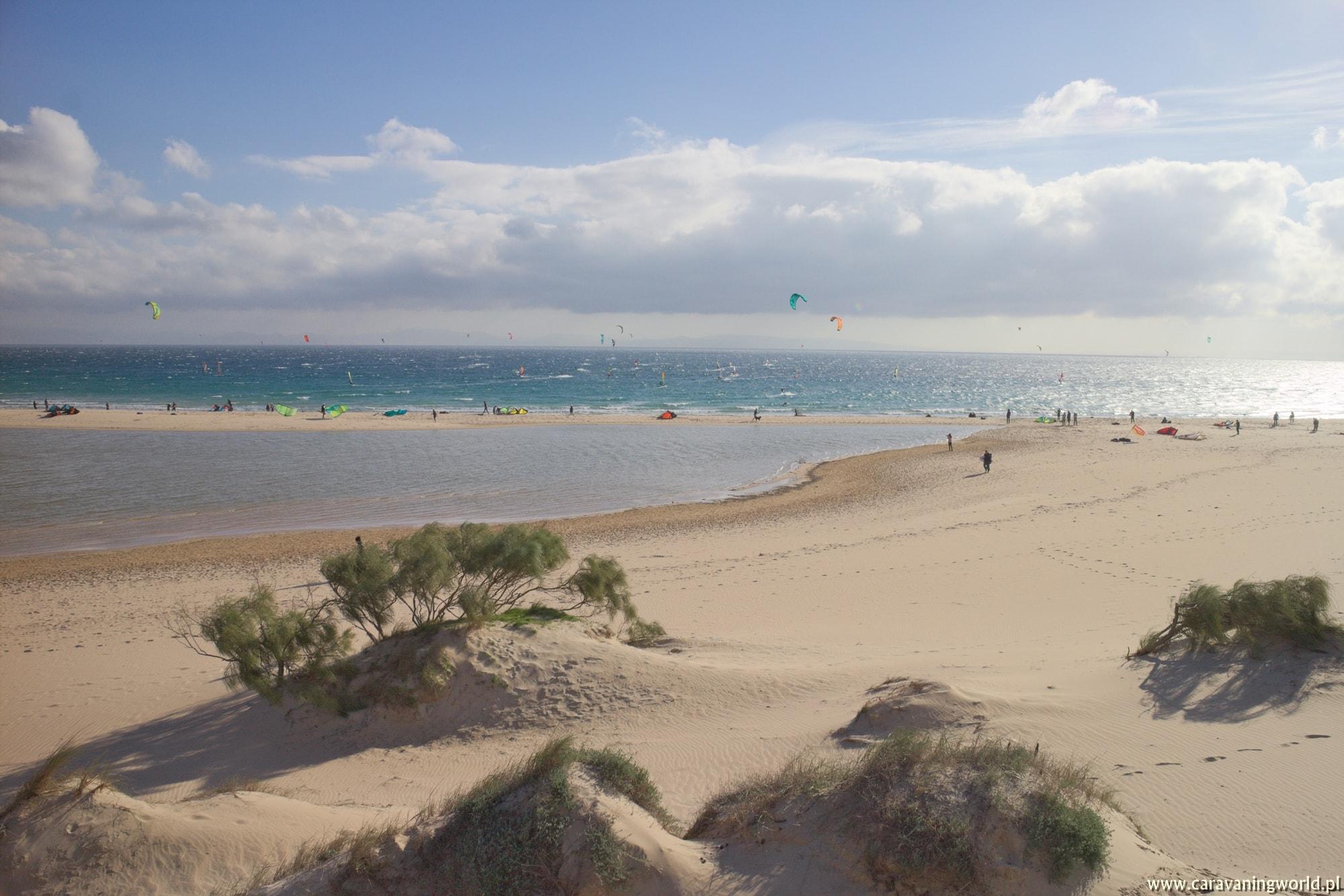 Wietrzne plaże zachodniej Andaluzji