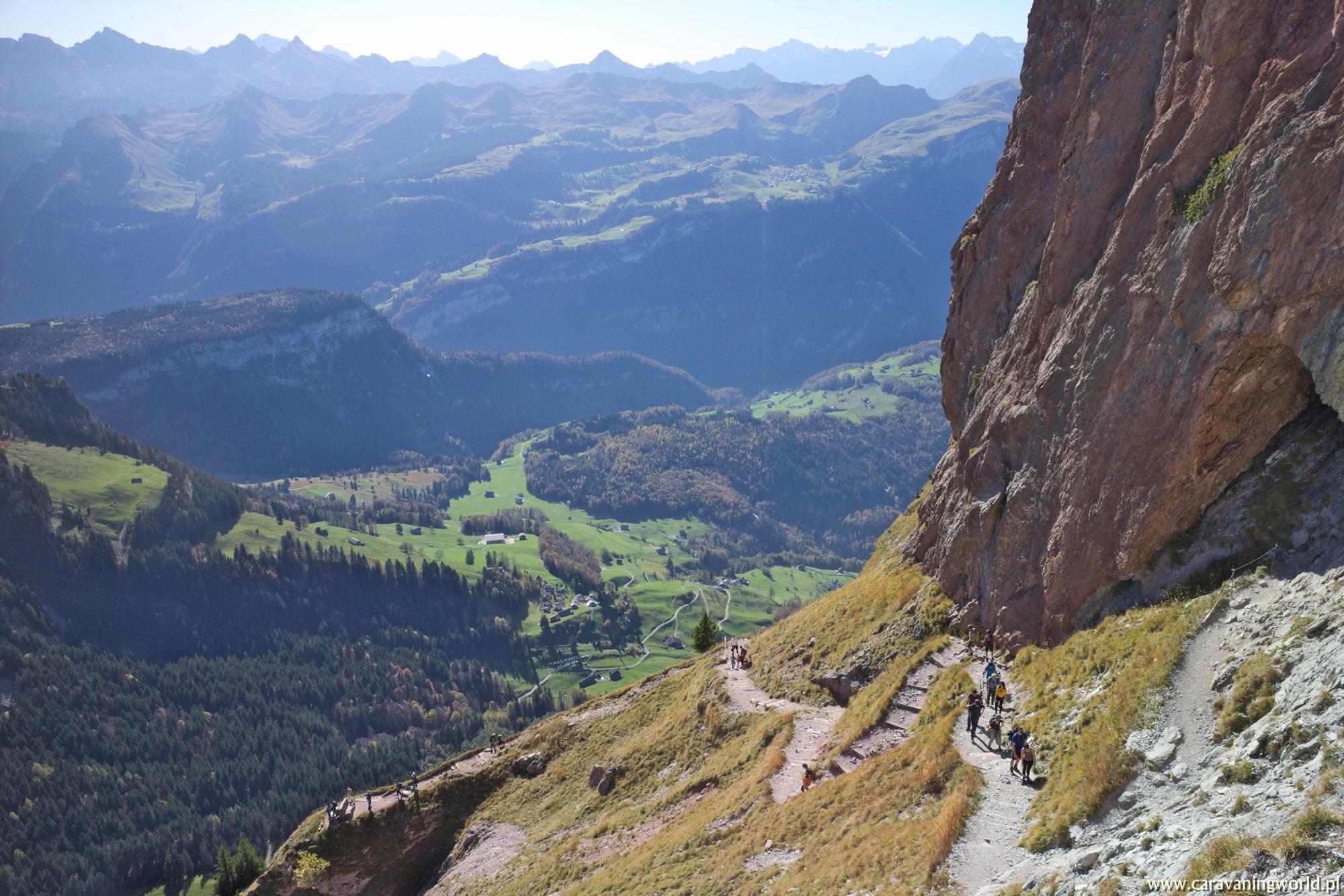 Ekspozycyjny szlak na Grosser Mythen