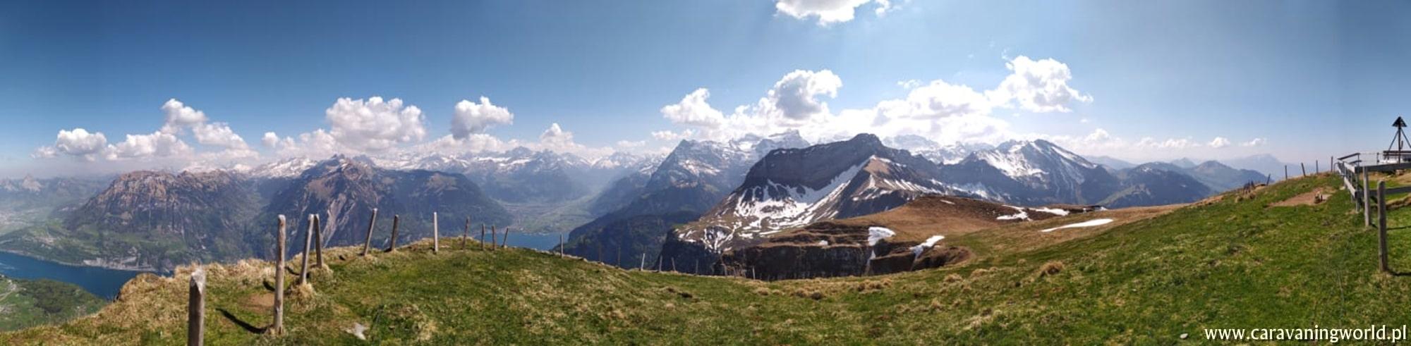 Panorama z Niederbauen Chulm
